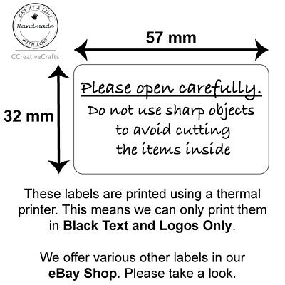 Please Open Carefully Labels - Business Packaging, Handle with Care Sticker!