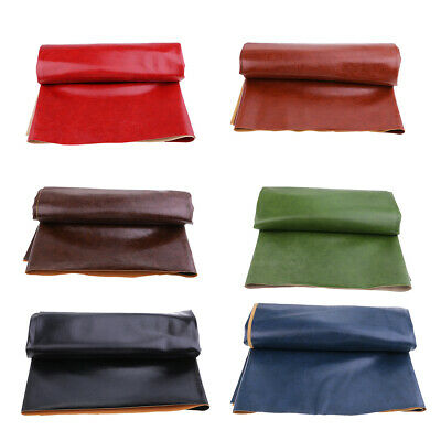 Leatherette Faux Leather Cloth Upholstery Fabric Material Sewing by the Yard