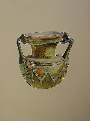 Antique Lithograph Froehner Wilhelm 1903 Ancient Glass Archaeology RARE PRINT 7