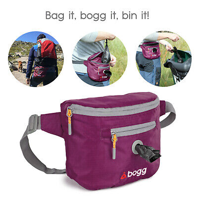 bogg - Dog walking bag Poop bag dispenser & waste carrier roll purple/wine Ball