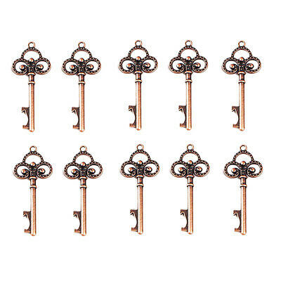 10 x Vintage Metal Key Shaped Key Bottle Opener Party Favor 6.8 × 2.8 cm