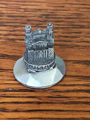 """Hearst Castle Miniature Pewter Figurine Needle Pusher Thimble Collectible 1"""""""