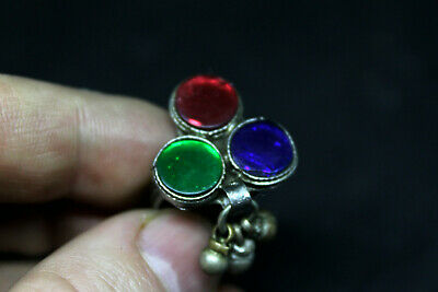 Antique Post Medieval silvered ring wearable size Q