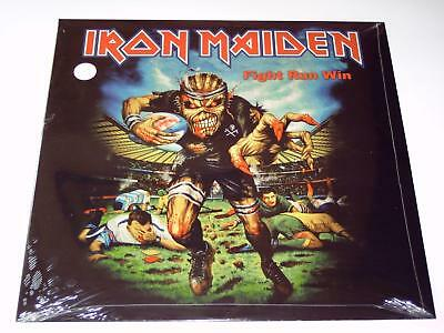 Iron Maiden Fight Run Win Live Lp Limited Coloured Vinyl Nopicture Disc Postcard