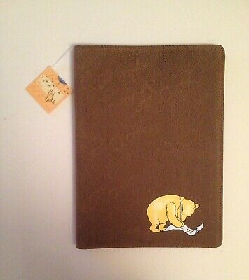 Winnie the Pooh Writing a Letter Portfolio in Tan New with Tags