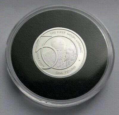 1969-2019 Alderney 50th Anniversary - Moon Landing £1 Pound Silver Proof CoinIn