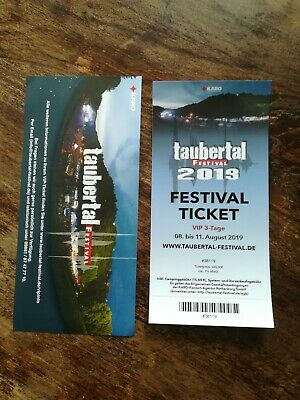 Taubertal Festival 08.08 -11.08.19 Rothenburg VIP Ticket 3 Tage inkl. Camping