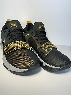 ad9b10f96136 Nike PG 1 Paul George Basketball Shoes Black Gold 878627 006 Mens Size 11