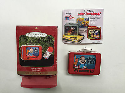 Hallmark Christmas Ornament Howdy Doody Lunch Box with Thermos