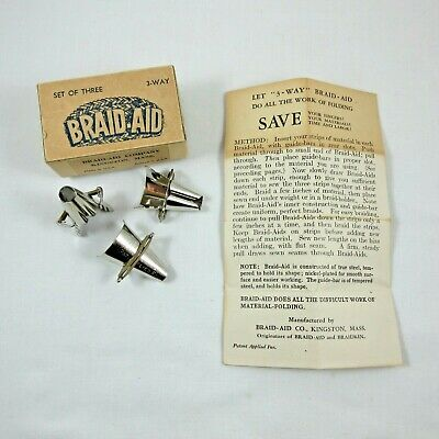 Vintage Braid-Aid in Original Box with Pamphlet