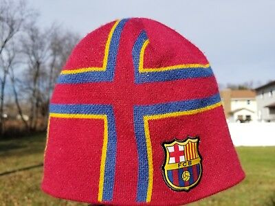 4dbc3f22e2be67 FC Barcelona Beanie Official Product Soccer FCB Winter Knit Cap hat One Size
