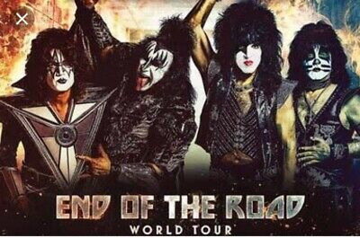 3 x Kiss Tickets - End of the road tour