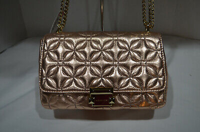 63bba9b3deca NWT  328 Michael Kors Rose Gold Quilted Sloan Large Chain Shoulderbag  Crossbody
