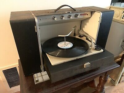 Vintage General Electric Turntable Phonograph Record Player Transistor Model 400