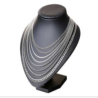Hot Man Women Fashion Various 316L Stainless Steel 2mm-5mm Silver Chain Necklace