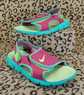 release date: 64830 485e6 Nike Sunray Adjust Youth Kids Water Sport Sandals Size 3Y Pink Green 386520  605