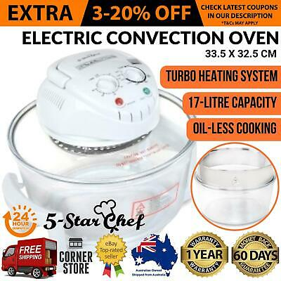 Electric 17L Benchtop Portable Convection Oven Low Fat Grill Turbo Cooker New
