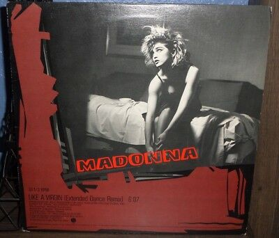 Madonna Like A Virgin 12 Inch Extended Dance Remix Promo Record