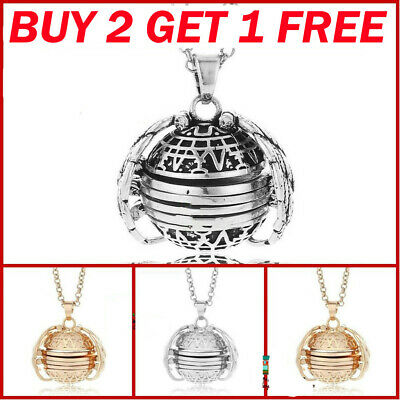 BUY 2 GET 1 GIFTS Expanding 4 Photo Locket Necklace Ball Angel Wing Pendant Memo