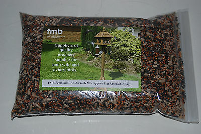 FMB Premium British Finch Garden Seed Mix 4 kg Bag Wild Bird