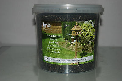 FMB Premium Wild Bird Niger Seeds 1500g Resealable Tub