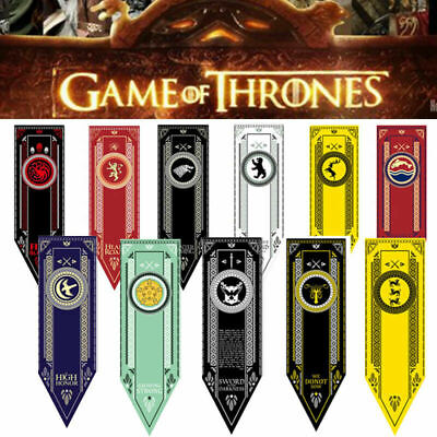 Game of Thrones House Banner Flag Wall Hanging Drape Greyjoy Targaryen Lannister