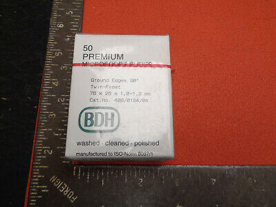 BDH 50 premium ground twin frost blank microscope slides LOTLAB55QL