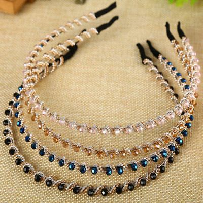 1PC Fahshion Crystal Rhinestone Jewelry Headband Hair Band Accessories for Women