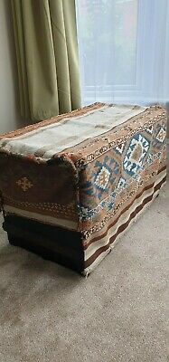 Varamin Mafrash ottoman or table cover cargo bag Old Persian bag
