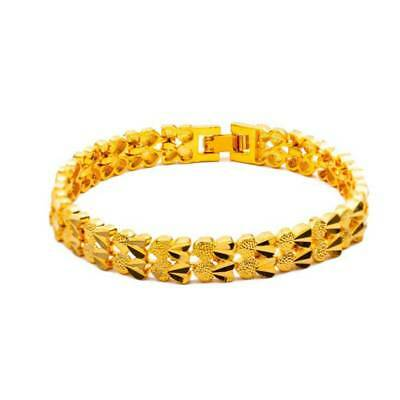 Luxury Heart Chain Bracelets Fashion Jewelry Gifts Gold-Plated Fashion Bangles