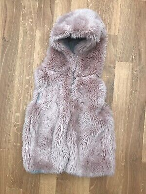 Gorgeous Next  Faux Fur Gilet Dusty Pink Age 7 Years Body Warmer