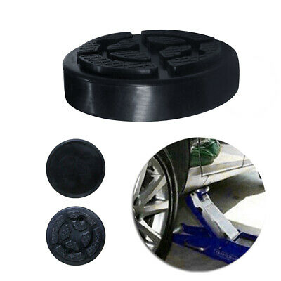 Car Universal Slotted Frame Rail Floor Jack Guard Adapter Lift Disc Rubber Pad