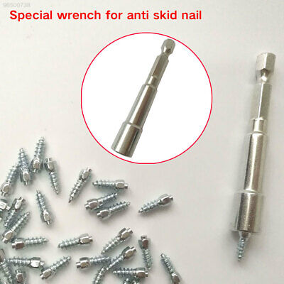 2C8E Steel Wheel Tire Spike Install Tool Automobile Wrench Screw Stud Spanner