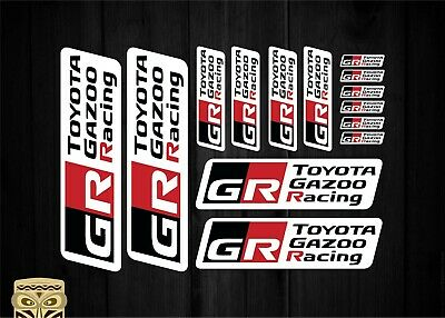 Toyota Gazoo Racing Set Kit A4 Pegatina Sticker Aufkleber Laminated Laminado