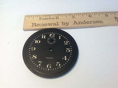 Vtg Elgin 8 Day Clock Dial Part