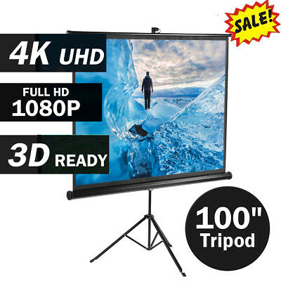 """100"""" HD 1080P Projector Screen Portable TV Projection 3D with stand tripod 16:9"""