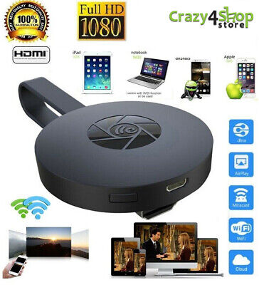 Chromecast Google Wireless Mirascreen Hdmi Display Dongle Media Video Streamer