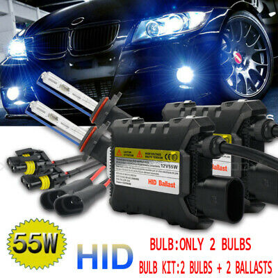 55W HID Xenon Kit H1 H3 H4 H7 H8/H9/H11 Light Ballast Conversion Headlight