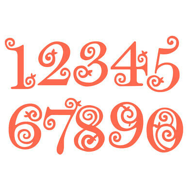 Numbers Lace Metal Cutting Dies Stencil Scrapbooking Embossing Paper Card Craft.