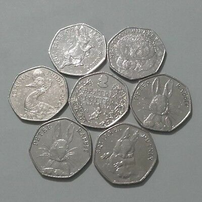 Beatrix Potter 50p Coins CIRCULATED Including Jemima Puddle-Duck