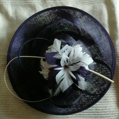 Lovely JACQUES VERT purple/cream fascinator/hatinator  *wedding/special occasion