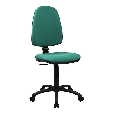 High Back Fabric Operators Chair Swivel Home Office Desk Computer Chair Aqua