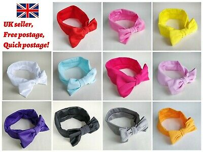 Baby Headbands Hairbands Bow Plain Girls Elastic Headdress Toddler UK