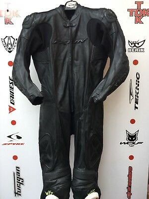 IXON Pulsar one Piece race leathers with hump uk 46 euro 56