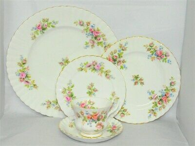 1-Royal Albert Moss Rose 5 Piece Place Setting ( 6 Available)