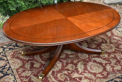 1960s Vintage Regency Style Mahogany oval shaped Coffee table / center table