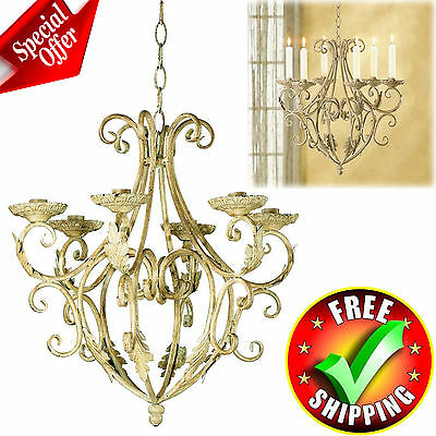 Antique Chandelier Wrought Home Vintage Interior Modern Decor Candle Holder