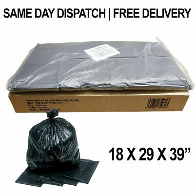 New 140 Gauge Strong Bags Bin Liners Rubbish Scrap Waste Recycling Refuse Sacks