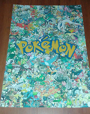 Pokemon Go Character Poster. New. High Quality. A4 Size.