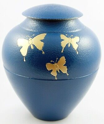 Adult Urns for Ashes Cremation Urn Funeral Memorial Large Urn blue butterfly Urn